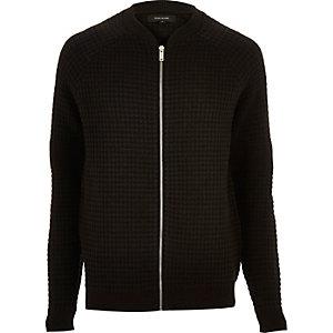 Cardigan noir zippé