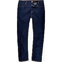 Dark wash high waisted slim jeans