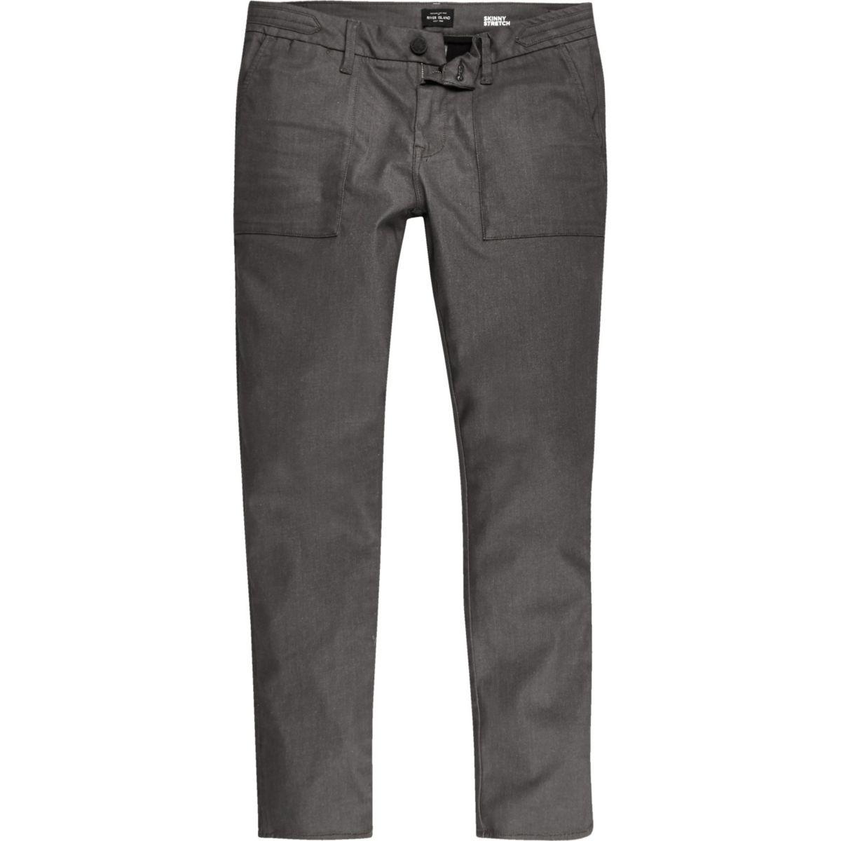 Brown Sid skinny stretch jeans