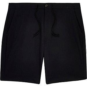 Navy drawstring casual shorts