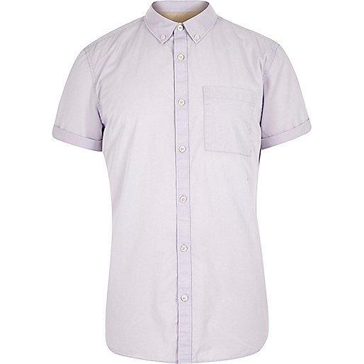 Purple twill short sleeve