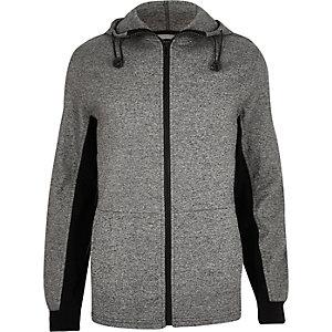 Dark grey zip-up hoodie