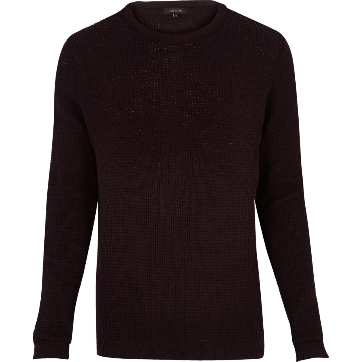 Dark purple waffle long sleeve jumper