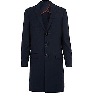 Navy longline slim fit blazer