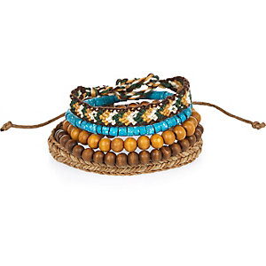 Turquoise beaded bracelets pack