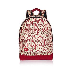White Mi-Pac ikat print backpack
