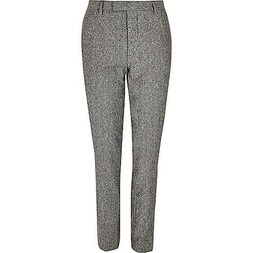 Grey neppy skinny suit pants