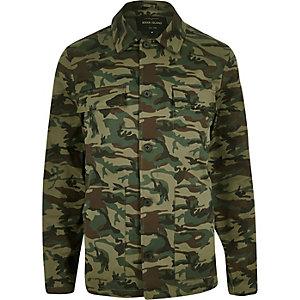 Green camo worker jacket