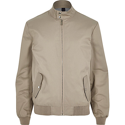 Stone funnel neck harrington jacket