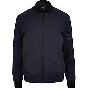 Navy casual bomber jacket