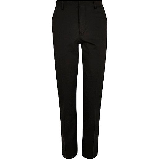 Black slim suit trousers