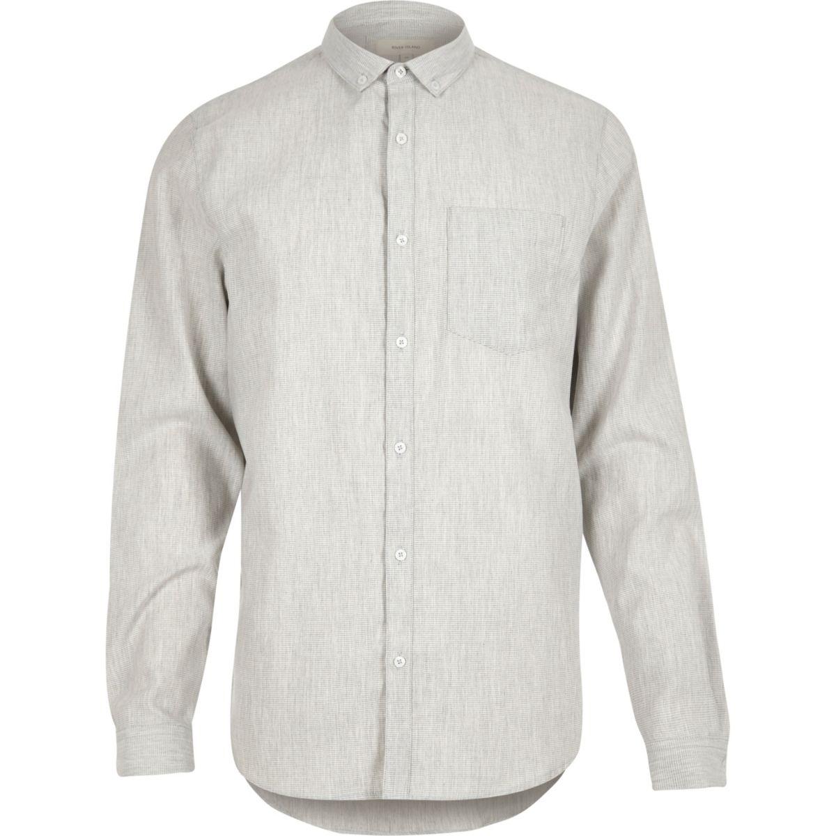 Grey waffle shirt