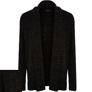 Black textured cardigan