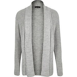 Grey textured cardigan