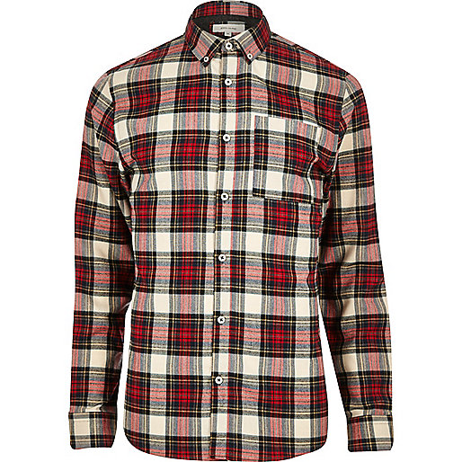 Red Plaid Check Flannel Shirt Shirts Sale Men