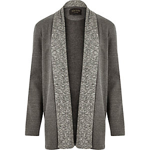 Grey draped cardigan