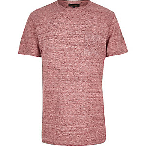 Red textured t-shirt