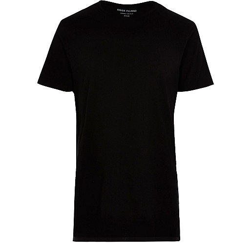T-shirt long noir