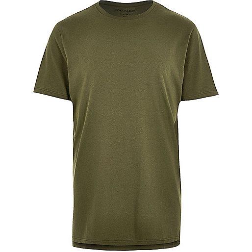 T-shirt vert foncé long