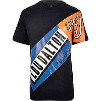 Navy Lou Dalton brand print t-shirt