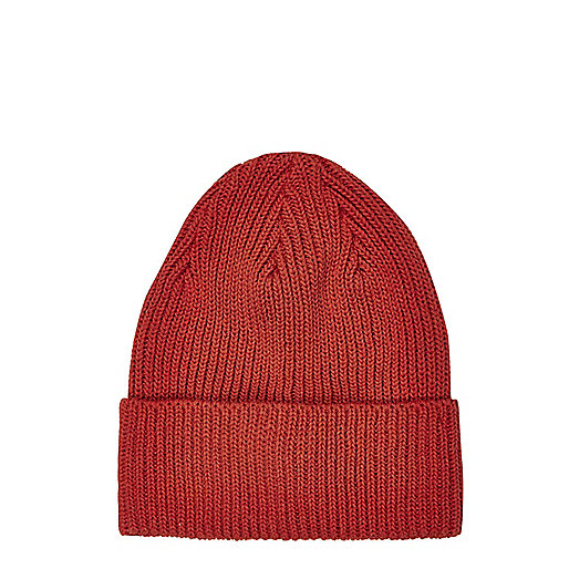 Red knitted beanie