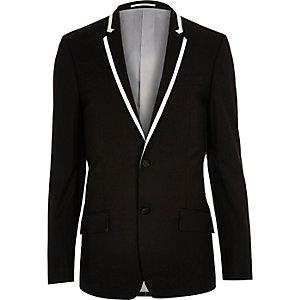 Veste de costume noire cintrée pour gala