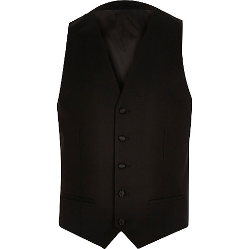 Black skinny waistcoat