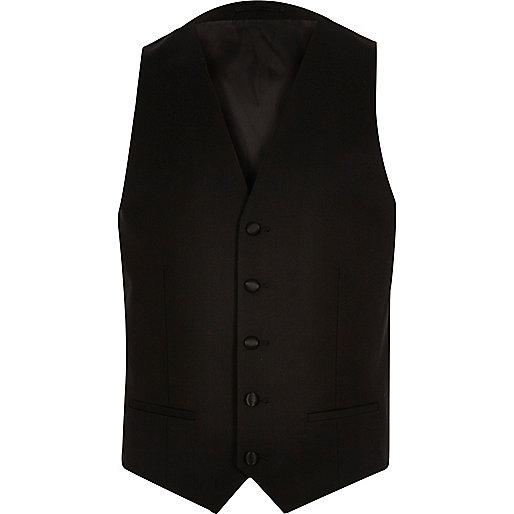 Black skinny vest