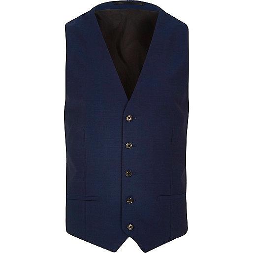 Bright blue slim vest