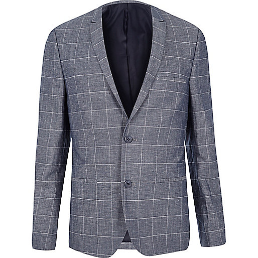 Dark blue check Vito blazer