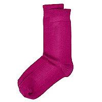Pink premium bamboo socks