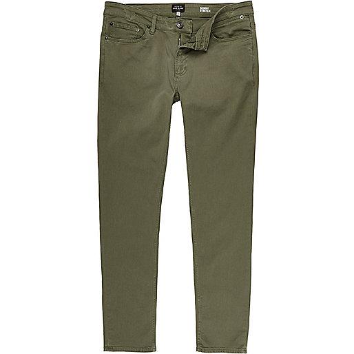 Green SId skinny stretch jeans