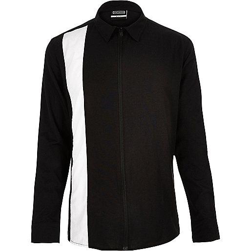 Black Antioch vertical stripe shirt