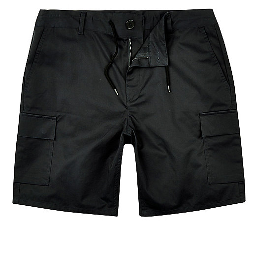 Grey drawstring slim fit bermuda shorts