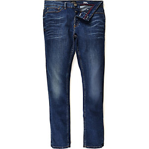 Dark blue wash Sid skinny stretch jeans