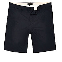 Marineblaue Slim-Fit-Chinoshorts