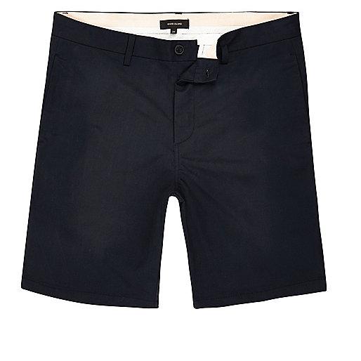 Marineblaue Slim-Fit-Chinoshorts