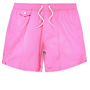 Pink pocket swim trunks
