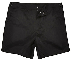 Black swim shorts