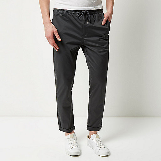 Dark green pull on pants