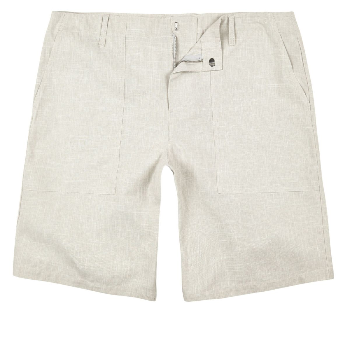 Stone smart textured chino shorts