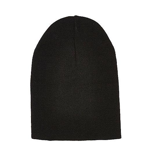 Bonnet noir en maille souple