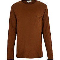 Brown crew neck sweater