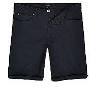 Marineblaue Bermuda-Shorts mit fünf Taschen
