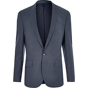 Grey slim suit jacket