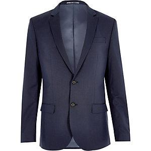 Veste de costume cintrée bleu foncé