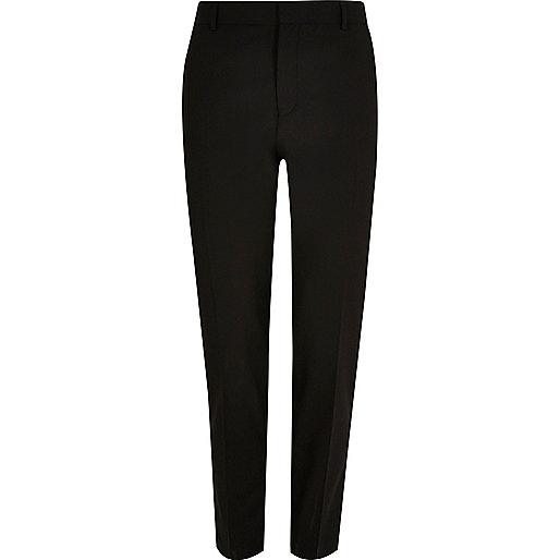 Black skinny suit trousers