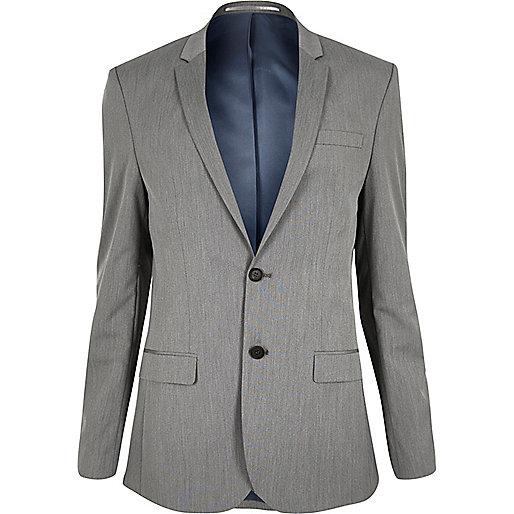 Graue, schmale Anzugsjacke