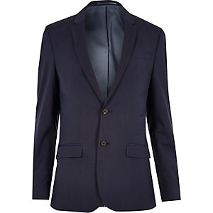 Veste de costume bleu foncé skinny