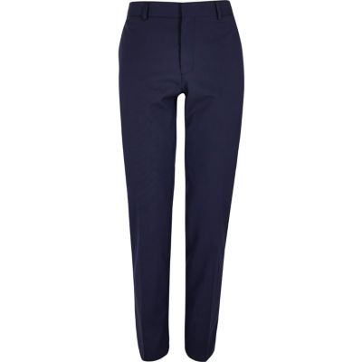 Donkerblauwe skinny fit pantalon
